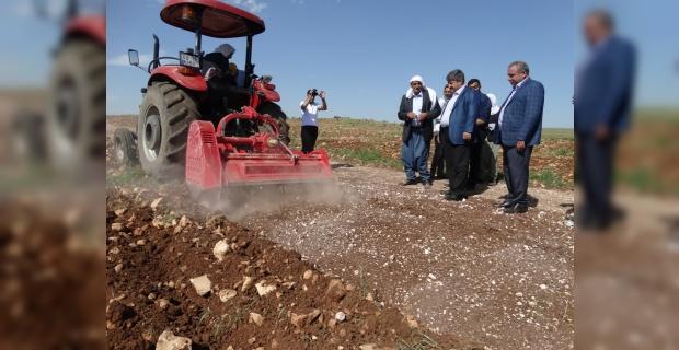 Eyyüpoğlu:  taşlı arazilerimizi daha verimli yapmak istiyoruz