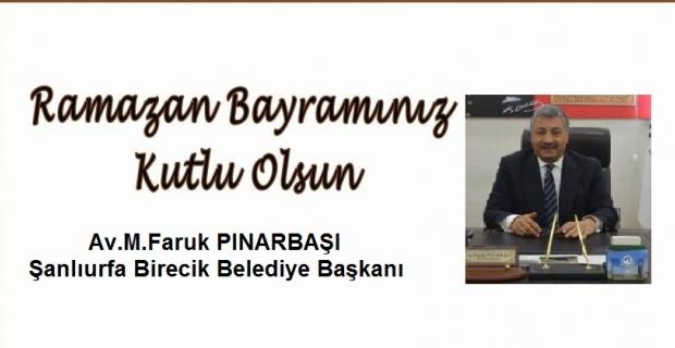 """Pınarbaşı,""""Başta çocuklar olmak üzere herkesin Ramazan Bayramı'nı kutlarım"""""""