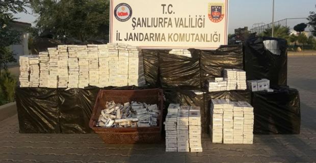 18.340 paket kaçak sigara ele geçirildi.