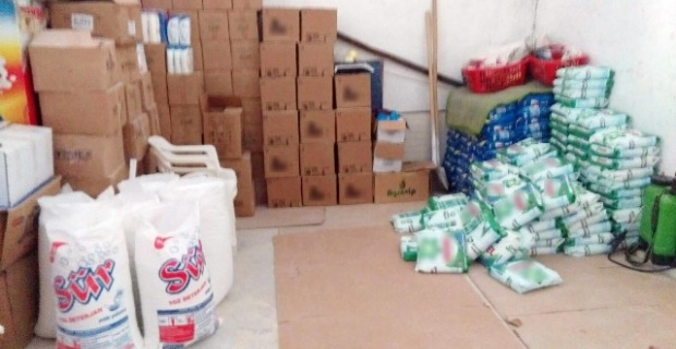 30 ton sahte deterjan ve şampuan ele geçirildi