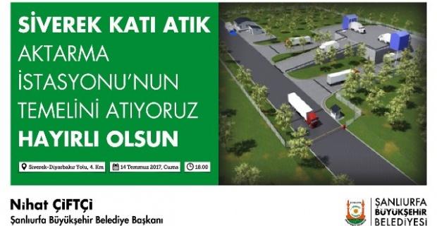Katı Atık Aktarma istasyonunun temeli atılıyor.