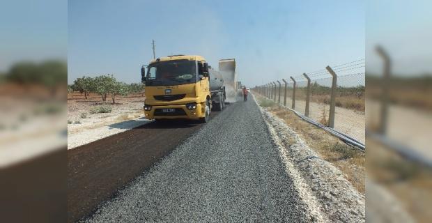 Birecik Kırsalında 25 kilometrelik sathi asfalt çalışması tamamlandı.