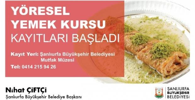 """Büyükşehir'den """"Yöresel yemek kursu"""""""