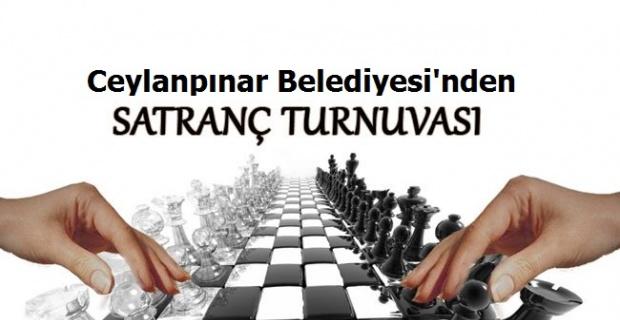 Ceylanpınar Belediyesi'nden Ulusal Satranç Turnuvası