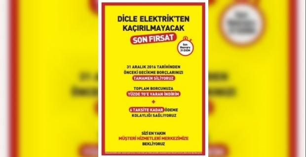 Dicle Elektrik'ten Kaçırılmayacak Fırsat!