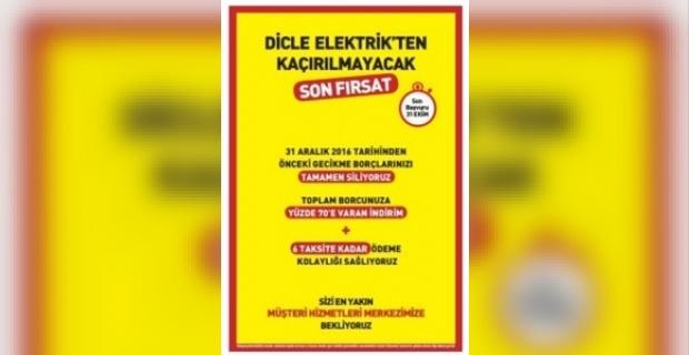 Diecle Elektrikten Kaçırılmayacak Fırsat