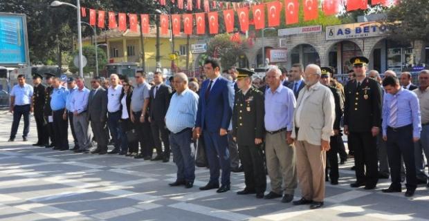 Suruç'ta,Gaziler Günü dolayısıyla anma töreni düzenlendi.