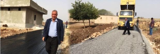 Viranşehir'de asfalt yol yapım çalışmaları tüm hızıyla devam ediyor.