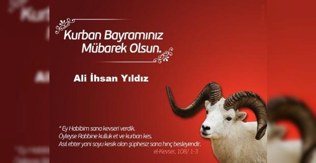 """Yıldız, """"Tüm Şanlıurfalı hemşehrilerimin ve İslam aleminin Kurban Bayram'ını tebrik ederim"""""""