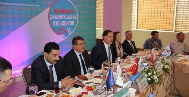 Malkoç, Şanlıurfa'da basın mensupları ile bir araya geldi.