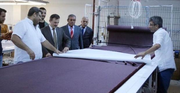 Perçi,Mayser Tekstil Fabrikasını Ziyaret Etti