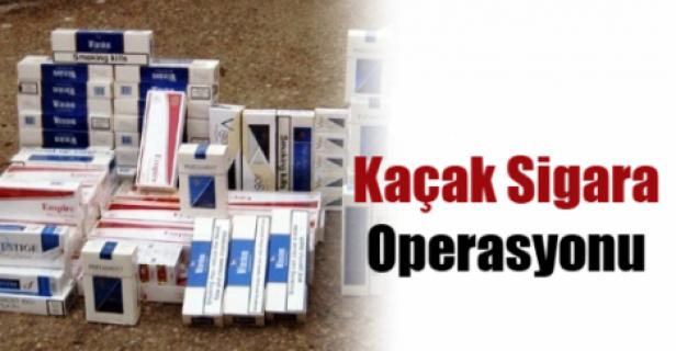 Siverek'te 10 bin paket kaçak sigara yakalandı