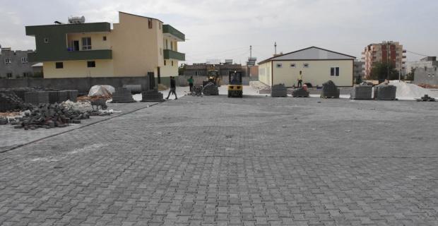 Yeni Mahallede Kilitli Parke Taşı Döşeme Çalışmaları Devam Ediyor