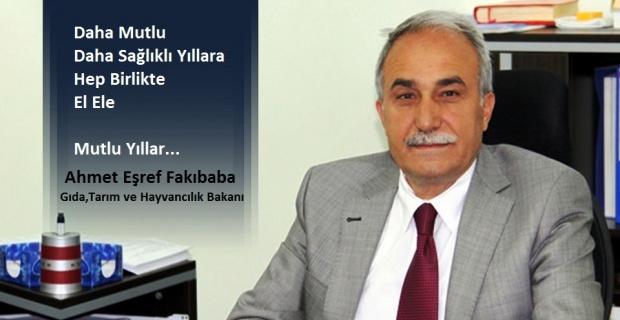 Bakan Fakıbaba,yayınladığı mesajla tüm insanlığın yeni yılını kutlayarak, kan ve gözyaşının dinmesini diledi.