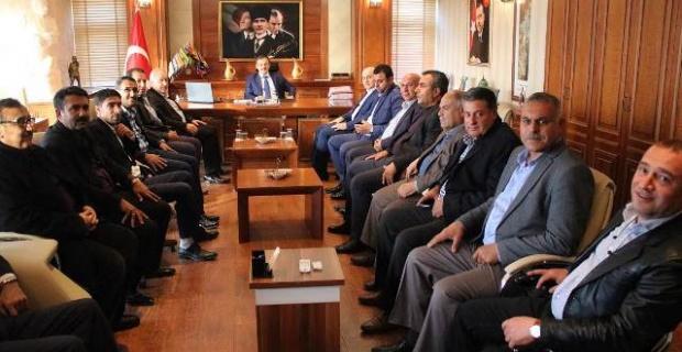 AK Parti Birecik Yeni İlçe Yönetimi Kaymakam Perçi'yi Ziyaret Etti