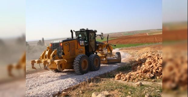 Haliliye,stabilize yol yapım çalışmalarını devam ettiriyor.