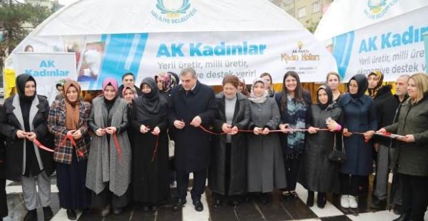Başkan Beyazgül,Türk Malları Haftası nedeniyle düzenlenen kermesin açılışını yaptı.