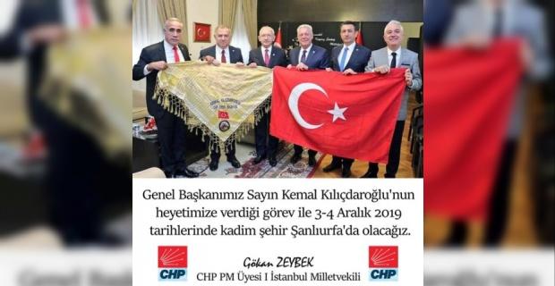CHP Heyeti Şanlıurfa'ya Geliyor.