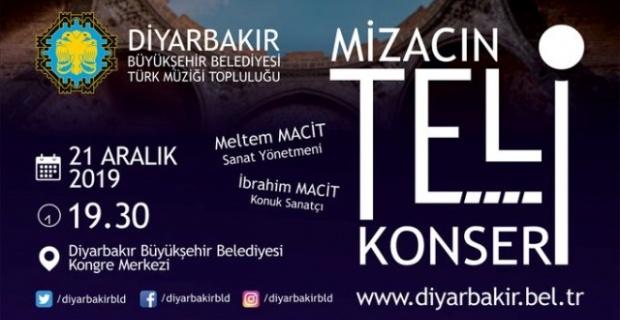 """Diyarbakır Büyükşehir'den  """"MİZACIN TELİ"""" konseri'ne davet"""