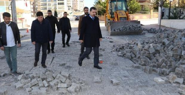 Başkan Baydilli,ekiplere çalışmaları hızlandırma talimatı verdi.