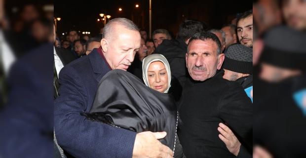 Cumhurbaşkanı Erdoğan, Doğanyol ilçesinde incelemelerde bulundu