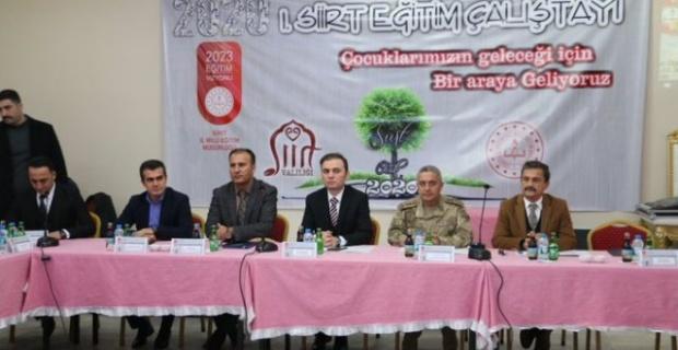 """Siirt'te """"2023 Eğitim Vizyonu Çalıştayı """""""