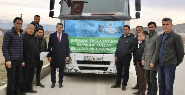 """Şırnak Belediye Başkanı Yarka,""""Şırnak Elazığ'ın Yanında"""""""