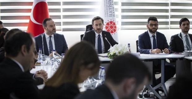 İletişim Başkanı  Altun,medya temsilcileriyle bir araya geldi: