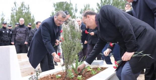 """Şanlıurfa Cumhuriyet Başsavcısı Öztoprak """"Şehitlerimizi dualarla andık"""""""