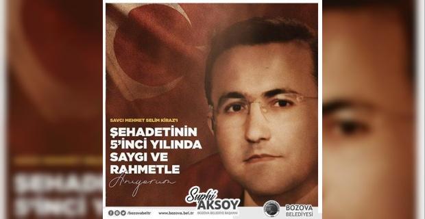 """Başkan Aksoy """"Mekanı cennet olsun"""""""