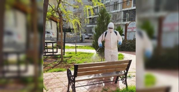 Kilis'te dezenfekte devam ediyor.
