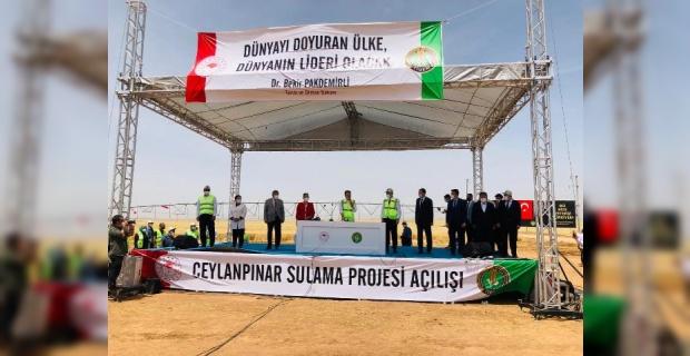 60 bin dekar alanı suya kavuşturacak Ceylanpınar Sulama Projesinin açılışı yapıldı