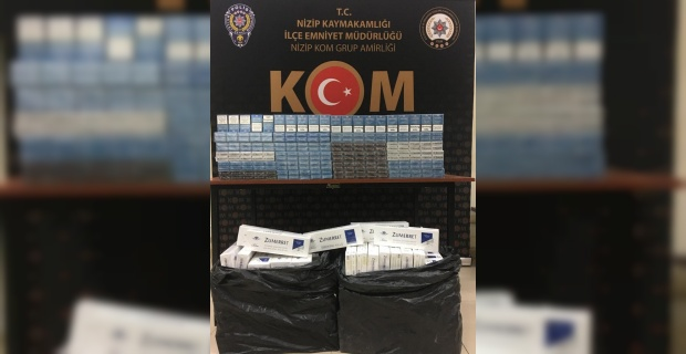"Gaziantep'te ""1850 paket gümrük kaçağı sigara ele geçirildi"""
