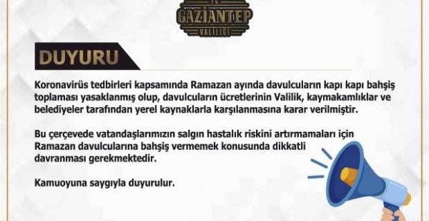 "Gaziantep Valiliği ""Vatandașlarımızın Dikkatine"""