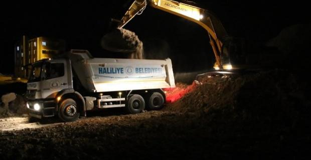 Haliliye'de yeni yol yapımı aralıksız devam ediyor.
