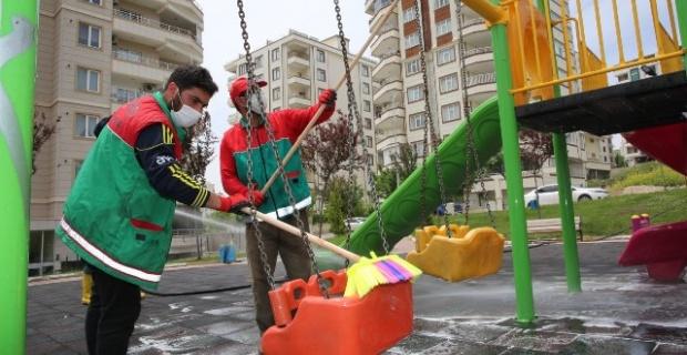 Karaköprü'de bayram temizliği