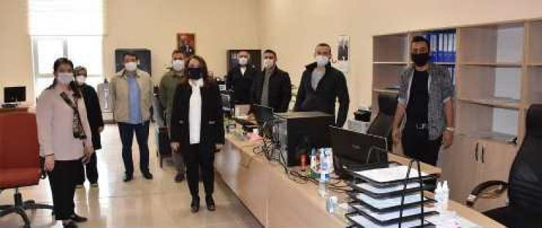 Rektör Bay Karabulut ,akademik ve idari çalışma alanlarını ziyaret etti.