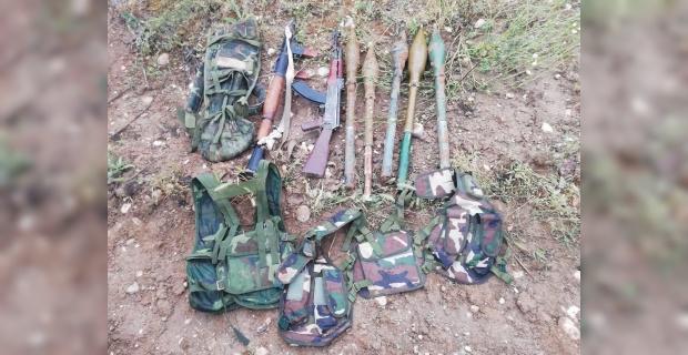 RPG-7 Tanksavar Silahı ve AK-47 Piyade Tüfeği ele geçirildi.