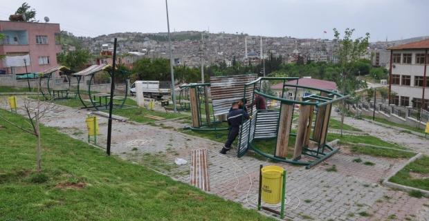 Siirt'te Park ve Bahçeler Yenileniyor.