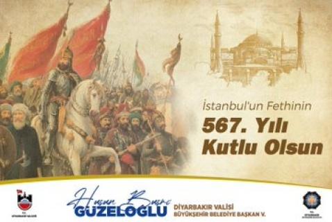 """Vali Güzeloğlu """"İstanbul'un fethinin 567. yılı kutlu olsun"""""""