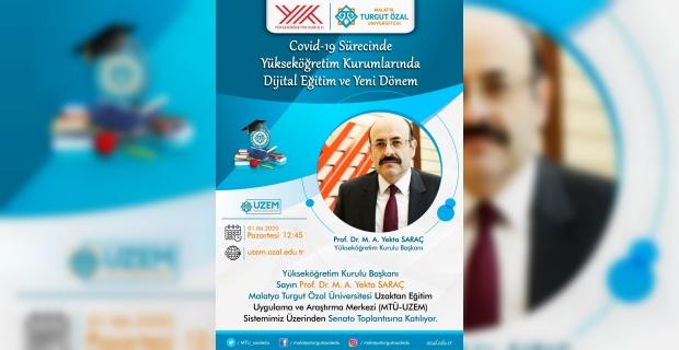 YÖK Başkanı Prof. Dr. Saraç, MTÜ Senatosu'na katılıyor