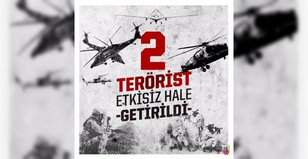 2 terörist, silahlarıyla birlikte etkisiz hale getirildi.