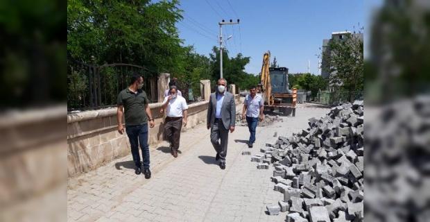 Başkan Bayık, Yol iyileştirme çalışmalarını yerinde inceledi
