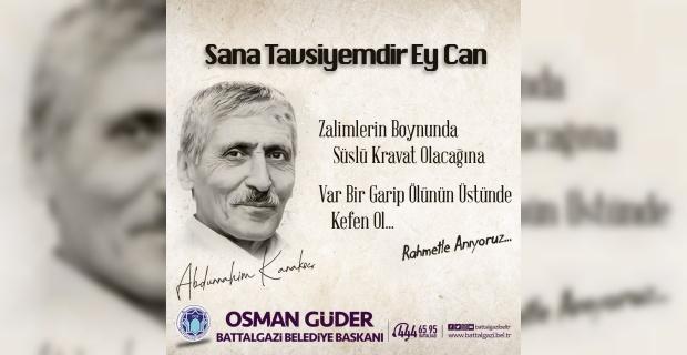 """Başkan Güder """"Ruhu şad olsun"""""""
