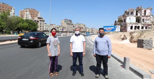 """Başkan Tahmazoğlu """"40 metrelik Boğaziçi Bulvarı'nda kaldırım çalışmaları devam ediyor"""""""