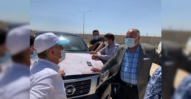Ceylanpınar Sınır Kapısında Çalışmalar aralıksız devam ediyor.