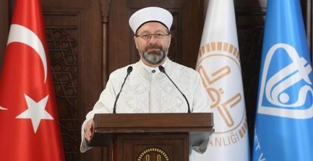 """Diyanet Başkanı Erbaş """"Tuzla köyündeki camiye yapılan çirkin saldırıyı kınıyorum"""""""