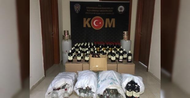 Şanlıurfa,Viranşehir'de Sahte Alkol Operasyonu