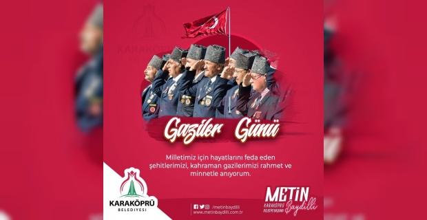 """Başkan Baydilli """"Kahraman Gazilerimizin Gaziler Günü kutlu olsun"""""""