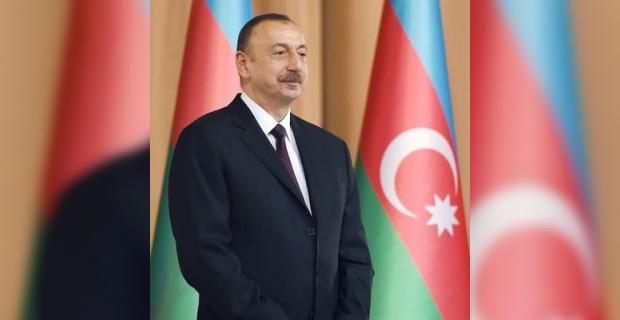 """Azerbaycan Cumhurbaşkanı Aliyev """"Madagiz'e Azerbaycan bayrağı dikildi"""""""